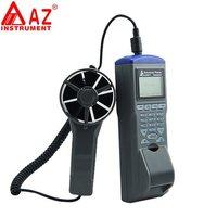 AZ9871 ручной измеритель скорости ветра регистратор цифровой анемометр с принтером