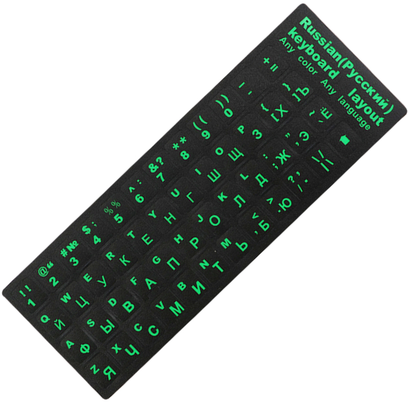 MAC ENGLISH SPANISH LATIN AMERICAN KEY STICKER BLACK
