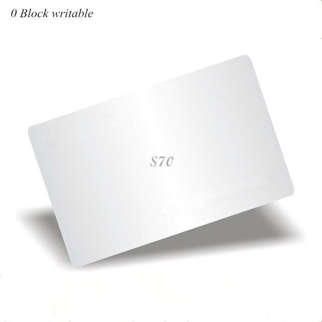 13.56 mhz M4k S70 7 בתים UID להחלפת כרטיס 0 בלוק לכתיבה סיני קסם כרטיס