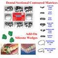 40 Pcs Add-On Cunha + 100 Pçs/set Dental Corte Contorno Matrizes Matriz Anel Delta