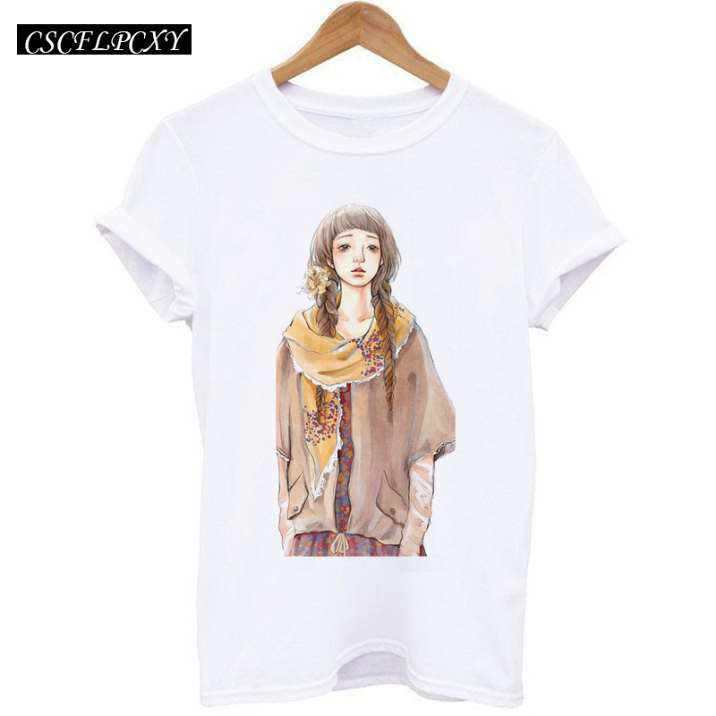 HTB1ImmHdjgy uJjSZLeq6yPlFXaN - 2017 Casual T-shirt Women Tshirt Short Sleeve Kawaii Elephant Print Camisetas Mujer Tops Tee Shirt Female O-neck White Tees