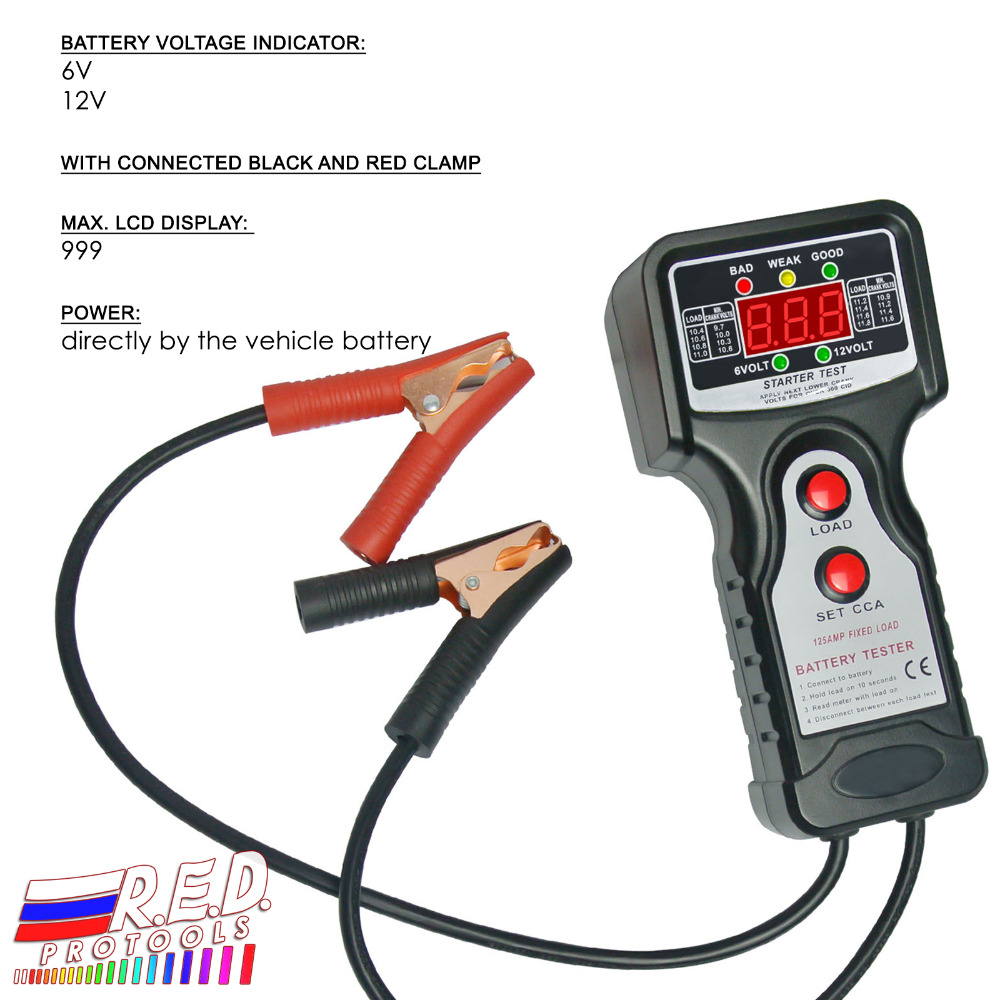 Digital Car Automative Vehicular Auto Battery Tester Checker Main Voltage Indicator Analyzer With 6v And 12v In Testers From Tools On