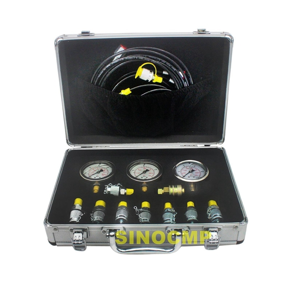 Excavator Hydraulic Pressure Testing Kit, Pressure Test Gauge Coupling, Diagnostic Tool , 2 year warranty