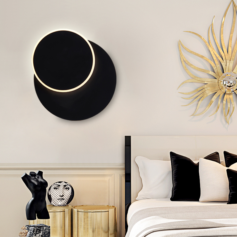 Bedside Rotary Wall Lamp Modern Simple Iron Art Wall Light Nordic Wall Lamp Balcony Stair Industrial Wind Creative led lighting