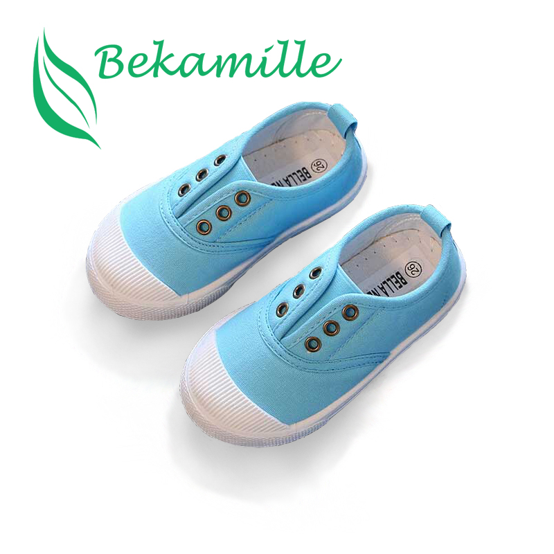 Bekamille Girls Boys Fashion Canvas Sneakers Children Shoes For Kids