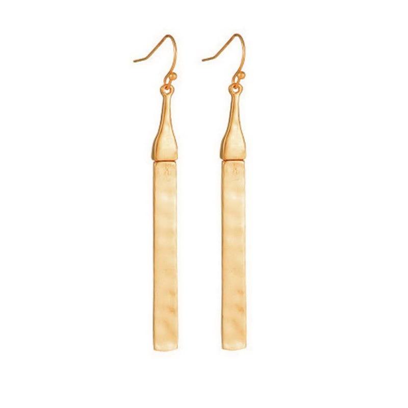 c32a9ceff Wholesale Gold Filled Minimalist Bar Earrings Dangle for Women 2017 Trendy  Silver Hook Earring Long Earrings