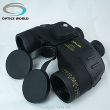 ФОТО tactical military binoculars nikula7x50 w18 naval binocular with rangefinder and compass reticle illuminant telescope waterproof