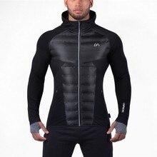 2017 Новый Фитнес Куртки Потрясающие мужские Хлопчатобумажные Куртки Пальто и Фитнес ультратонкие будет дышать мышцы