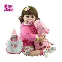 KAYDORA 22Inch 55cm Silicone Reborn Baby Dolls Baby Alive Adorable Lifelike Toddler Kids Toy Bebe Reborn Birthday Christmas Gift