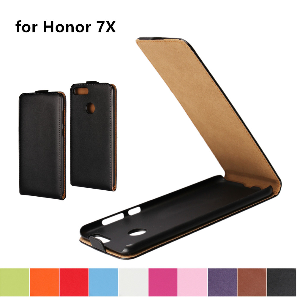 Clamshell funda de teléfono Funda de cuero para Huawei Honor 7X adsorción magnética hebilla funda flip coevr caso para Honor 7X