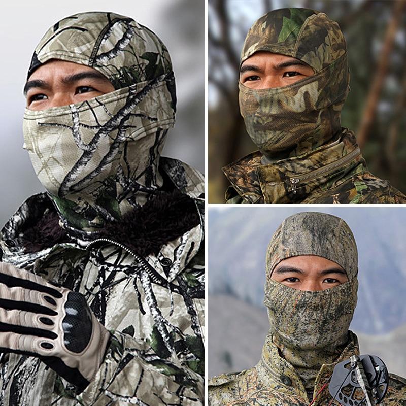 Tactical Military Hunting Face Mask Camouflage Balaclava Airsoft Paintball Gear Motorcykel Ski Cykling Skydda Full Face Mask