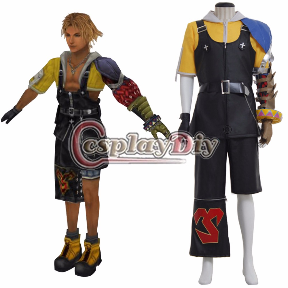 Cosplaydiy Game Final Fantasy X 10 Tidus Cosplay Costume Adult Halloween Carnival Outfit Custom Made