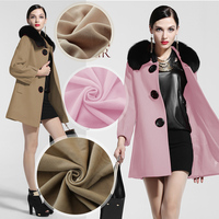 Winter new solid color imitation cashmere wool fabric coat / windbreaker clothing DIY thickening fabric contains cotton cloth