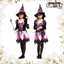Witch Costume Fancy Children Halloween Childrens Girls Free Shipping