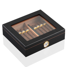 COHIBA Cedar Wood Humidor Cigar Case Portable Box Accessory With Humidifier Hygrometer