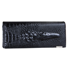 ASDS Women Wallet Female 2017 Coin Purses Holders Genuine Leather 3D Embossing Alligator Ladies Crocodile Long Clutch Wallets