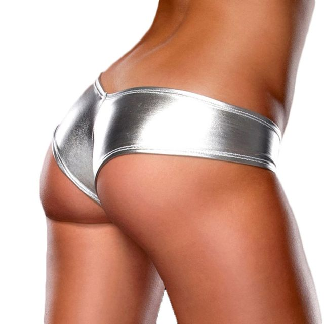 513f117c270ab Hot selling summer Women Sexy Bikini PU Panties Briefs Underwear Metallic  Lingerie G-String Thong M-6XL