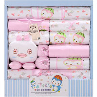 18 PCS Lot Summer Baby Clothing Set Cotton Newborn Gift Clothes Beautiful Baby Boy And Newborn