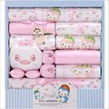 100% Cotton Unisex Newborn Gift Sets Summer Baby Girls Clothing Sets Baby Clothing Set 18 Piece Fit 0-12 Month