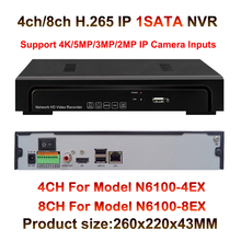 5MP H.265 Ultra 4k IP Security Recorder NVR 4ch 8ch up to 6TB HDD, Onvif, RTSP,HDMI, USB,Free Apple Android App Mobile View
