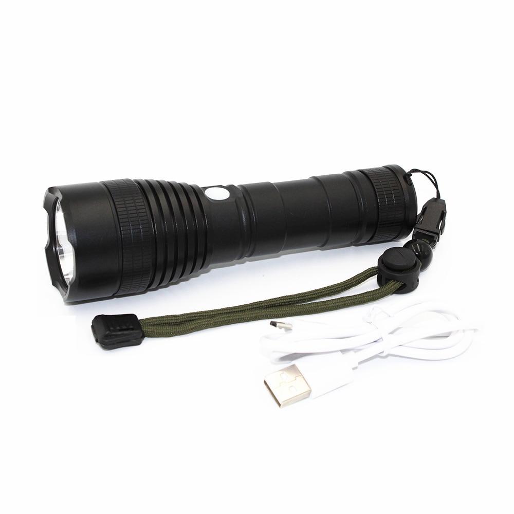 Portable LED Flashlight USB Rechargeable 26650 Flashlight XM-L2 1200 Lumen LED Torch 3 Modes Light Lamp with USB Cable Line fenix hp25r 1000 lumen headlamp rechargeable led flashlight
