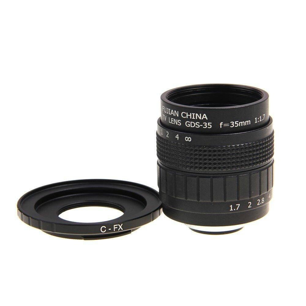 Fujian 35mm F1.7 CCTV TV lens+C Mount to Fuji Fujifilm X-A2 X-A1 X-T1 X-T2 X-T10 X-E1 X-E2 X-1M X-Pro1 X-Pro2 X-MOUNT
