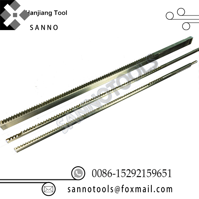 Hss Broaching Cutting Tools Module Spline Broach 8mm - 12mm Keyway Broaches Square Pull And Push Broaches Can Be Customized