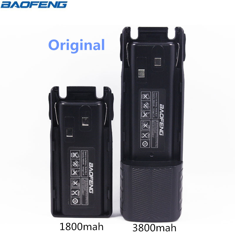 Original BAOFENG UV-82 BL-8 7.4V 1800&3800mah Li-ion Battery For Baofeng Walkie Talkie BF-UV82 Series Two Way Radio UV 82 Radio