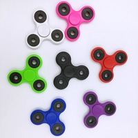 5pcs Tri-Spinner Fidget Toys ABS electroplate EDC Sensory Hand Fidget Spinner For Autism and ADHD Kids/Adult Anti Stress spinner