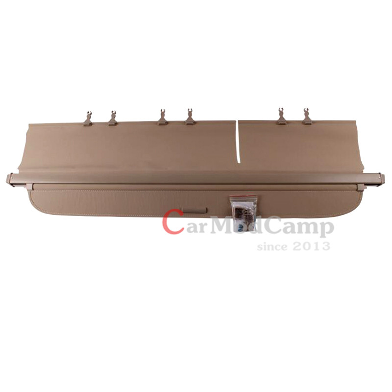 Beige Inner Rear Trunk Racks Cargo Cover Parcel Shelf For Toyota Land Cruiser LC200 2012 2016