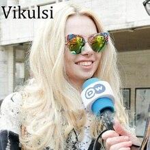 Cat Eye Sunglasses Women Vintage Round Sun Glasses Ladies Retro Luxury Brand Designer For Female Oculos