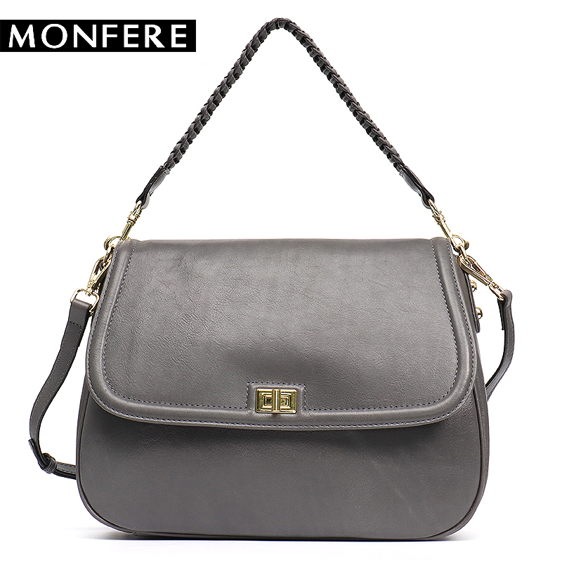 MONFERE Women's Handbags Ladies' Genuine Leather Handbag Cowhide Flap Lock Shoulder Bag Female Large Cross body Bags For Woman forudesigns candy color small handle bag woman casual handbag for girls luxury woman s leather handbags ladies cross body bolsas