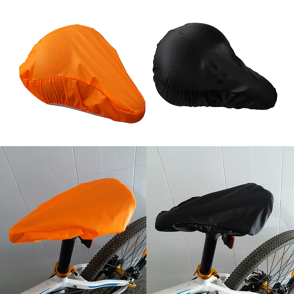 2pcs Waterproof Bike Seat Rain Cover And Dust Resistant Bicycle Saddle Cover