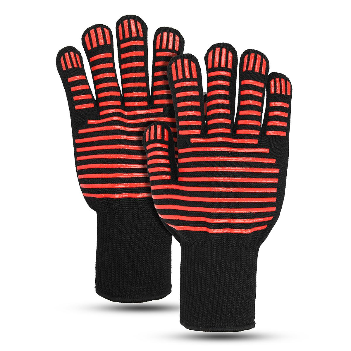 Safurance Insulate Anti-skid Heat Resistance Gloves For BBQ Oven Grill Cooking Baking Workplace Safety