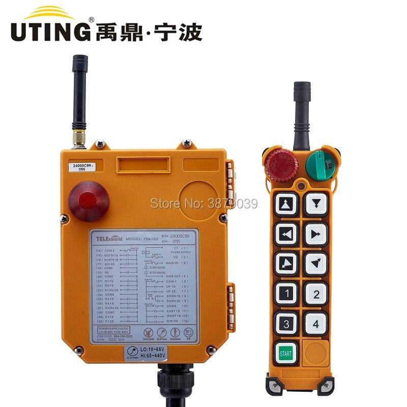 Nice UTING CE FCC F24-10D Radio sans fil industrielle Double vitesse 10 boutons télécommande (1 émetteur + 1 récepteur) pour grue