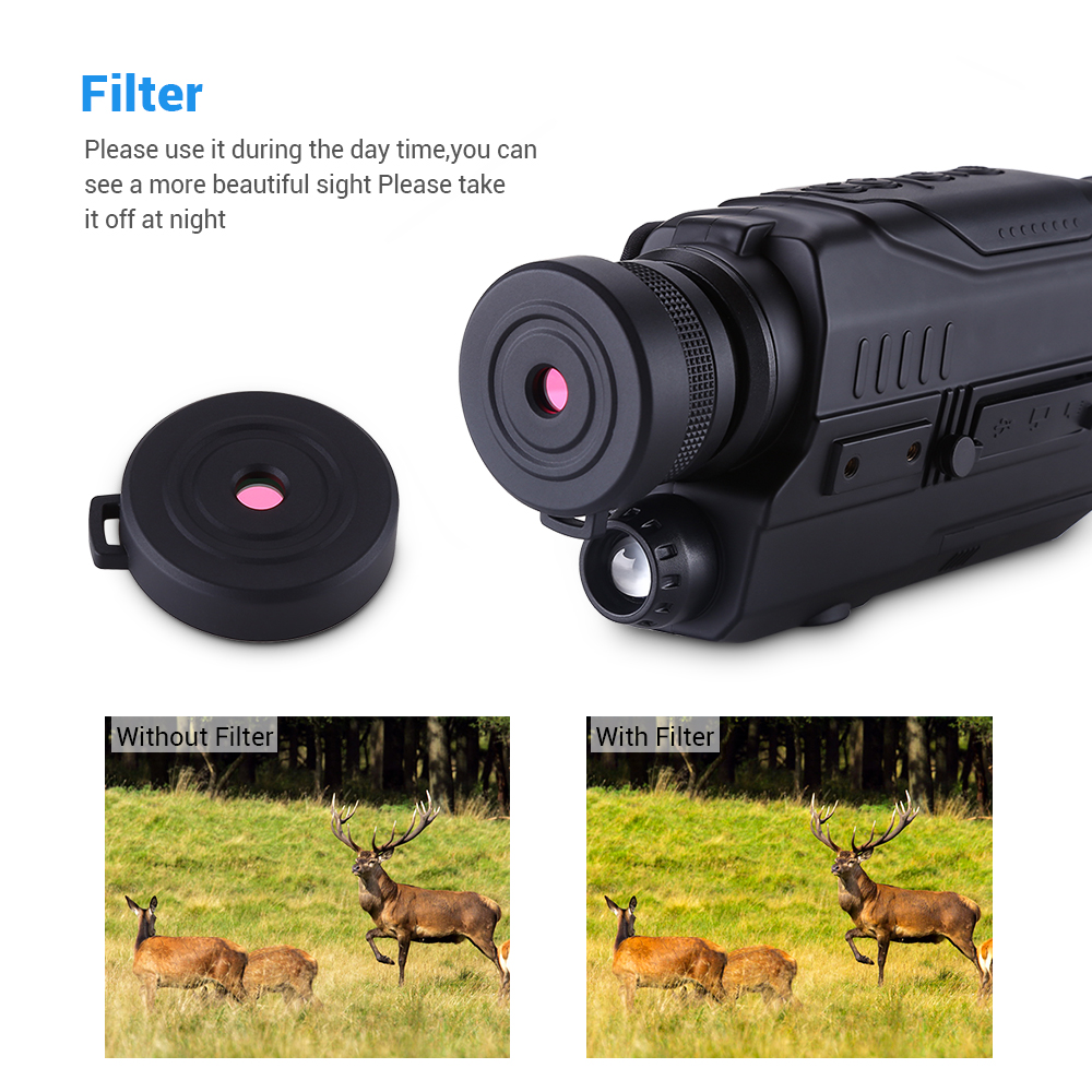 Image 4 - BOBLOV PJ2 5x32 Digital Infrared Night Vision Goggle Monocular 200m Range Free 16GB DVR for Hunting Telescope Military Tactical-in Night Visions from Sports & Entertainment