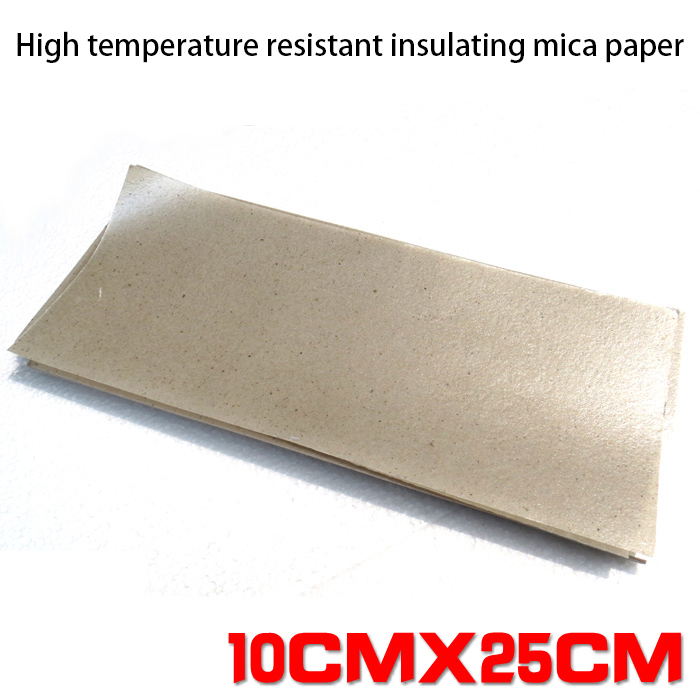 NOVFIX 5pcs High Temperature Resistant Insulating Mica Mica Paper For 858 858D+welding Hot Air Gun Heater Insulation 10x25cm