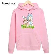 2019 hoodie Menssports Hoodie Rick and Morty Anime Around Winter Sweatshirt Casual Men Plus Velvet Keep Warm