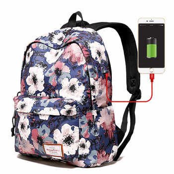 USB charging Women Backpacks For Teenage Girls Mommy Computer Travel Luggage Laptop Fashion Backpack Bagpack Mochilas Schoolbag - DISCOUNT ITEM  50% OFF All Category