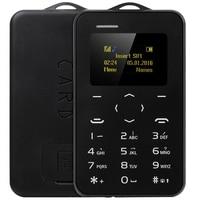 New Arrival Ultra Thin Mini AIEK C6 1 0 Inch Student Version Credit Card Phone Bluetooth