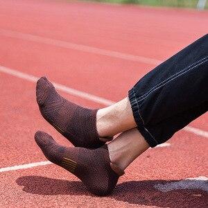 Image 4 - Mannen Outdoor Sport Sokken Bodem Zweet Mesh Ademend Boot Vier Seizoenen Anti Slip Running Zwart Atletisch Camping Run Trekking