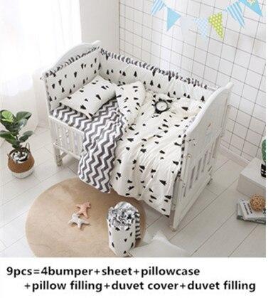 Promotion! 6/9 pièces bébé ensembles de literie ensemble de lit dans le lit bébé linge de lit pour enfants pare-chocs couverture ensemble entier unisexe, 120*60/120*70 cm