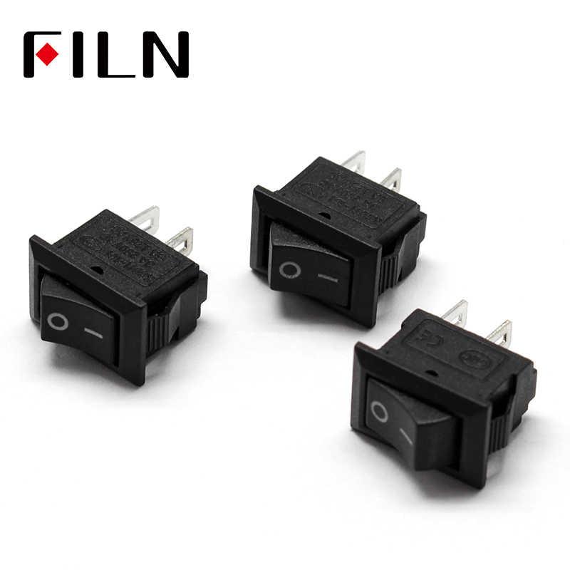 15x10mm mini przełącznik kołyskowy 3A 250V 2 piny on-off mini przełączniki zasilania
