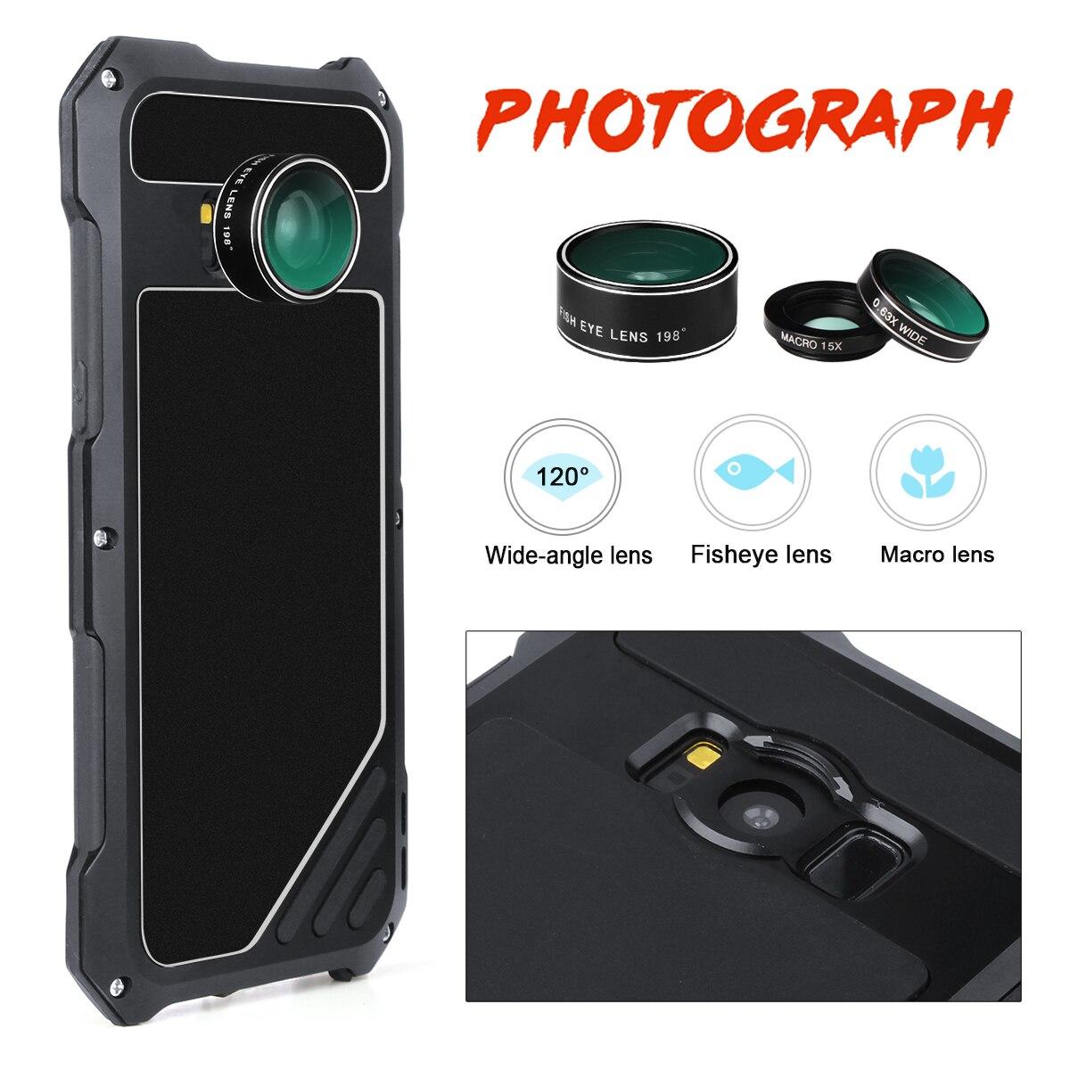 imágenes para Para Samsung Galaxy S8 S8 Más Caso de Gran angular Ojo de Pez Macro Lente A Prueba de Choques de Aluminio del Metal Armor Casos de la Cubierta para galaxy s8
