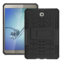 Tire Style Tough Rugged Dual Layer Hybrid Hard Stand Duty Armor Tablet Case For Samsung Galaxy