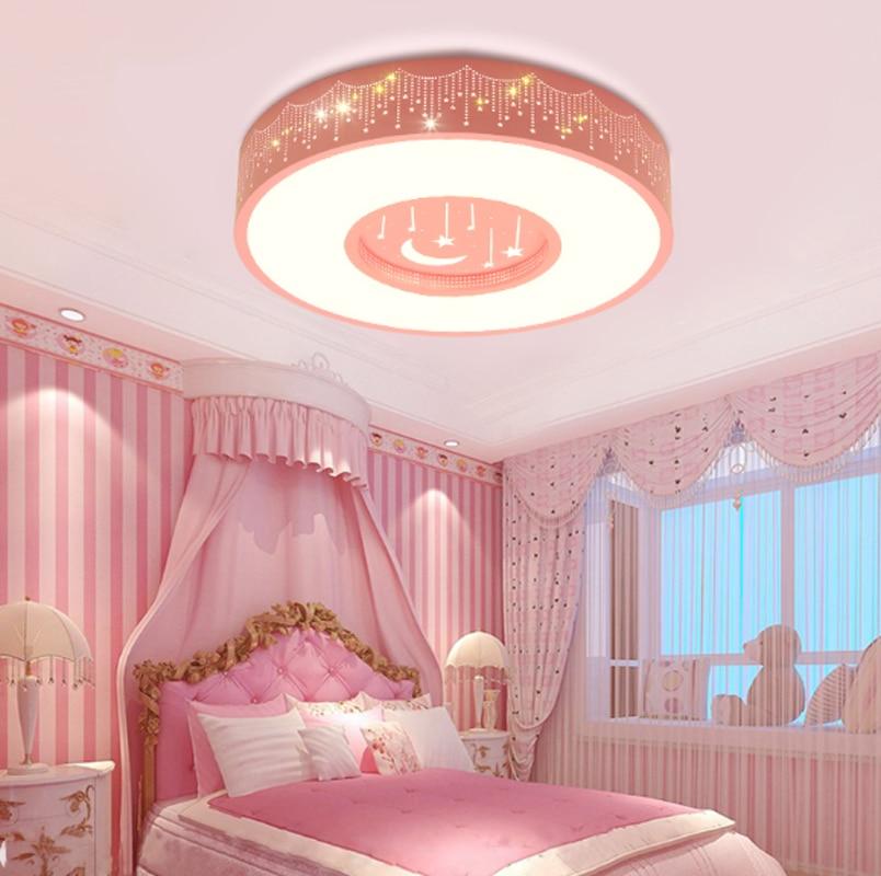 New Children's Light Meteor Shower Pink Round Girl Room ...