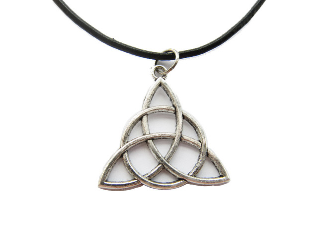 cross topaz pendant necklace trinity triquetra necklaces knot pendants collections celtic
