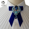 New Free Shipping fashion Men's male groom wedding diamond treasure velvet collar tie luxury nightclub MC host stage on sale