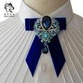 Nuevo Envío Gratis hombres de la manera de boda del novio masculino tesoro de diamantes de terciopelo cuello corbata de lujo discoteca etapa de acogida MC en venta