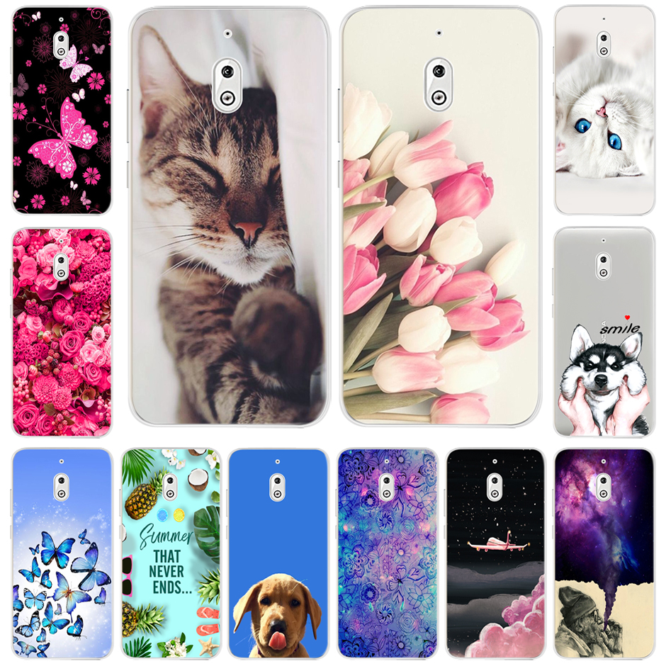 Cute Painted Soft Silicone TPU Case For <font><b>Nokia</b></font> <font><b>2</b></font>.1 2018 Nokia2 <font><b>2</b></font>.1 TA-1080 Back Case Cover For <font><b>Nokia</b></font> <font><b>2</b></font> TA-<font><b>1029</b></font> TA-1035 Phone Case image